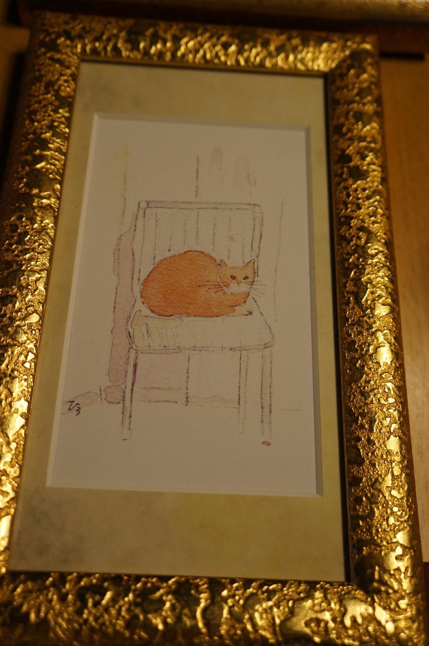 オーナーの大黒さんは猫の絵作家