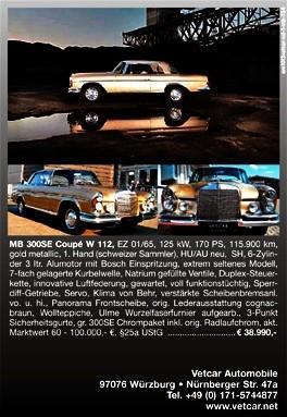 """XXL Anzeige """"Täume Wagen"""" 10/2013"""
