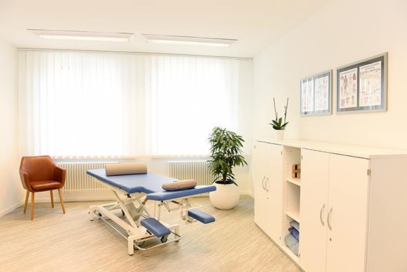 Behandlungsraum Wellsana Basel Physiotherapie