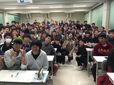 国立津山工業高等専門学校の寮生の皆さんたち