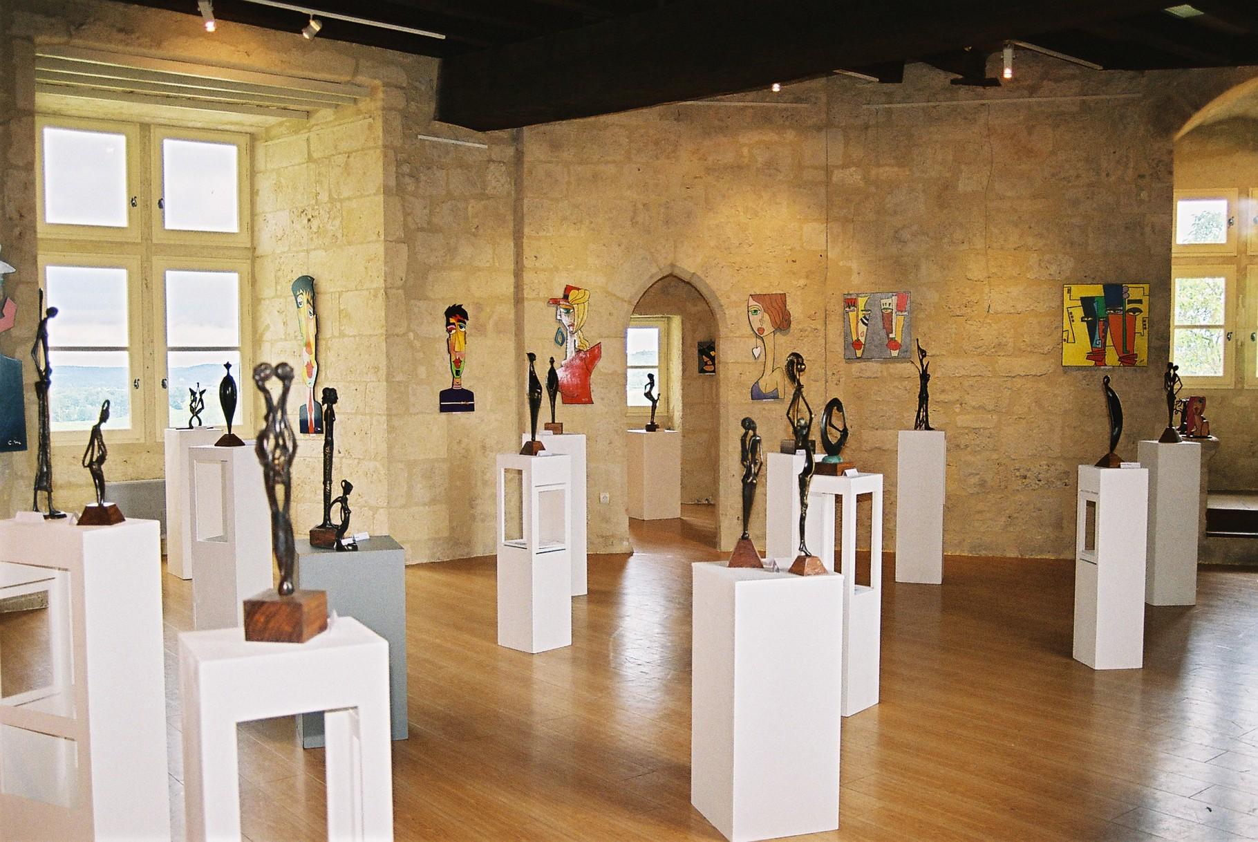 2014 - 33 Pujols sur Dordogne - Exposition avec Claude Millet, artiste peintre