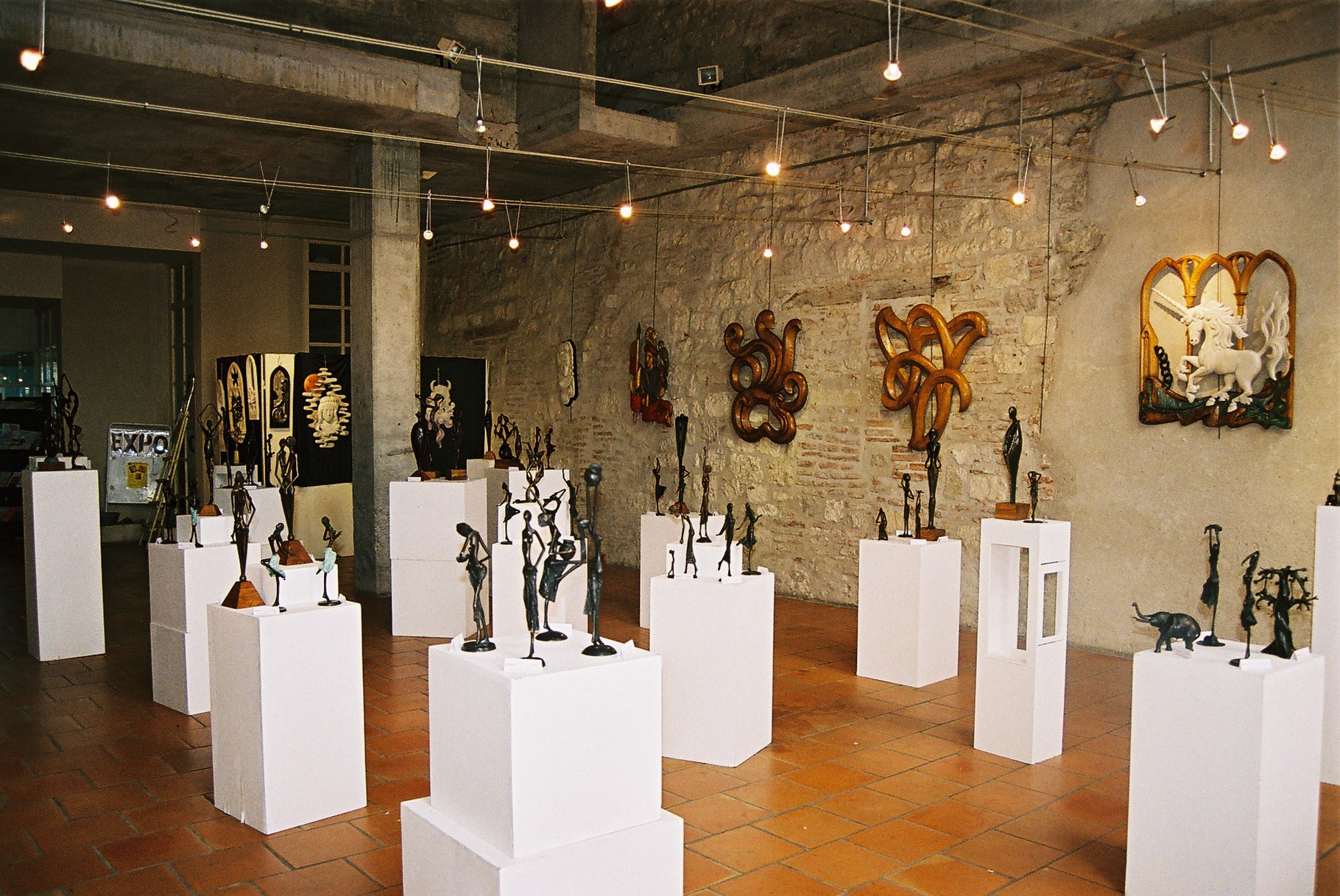 2014 - 47 Penne d'Agenais - Exposition avec Eve Delaneuville, sculpteur sur bois
