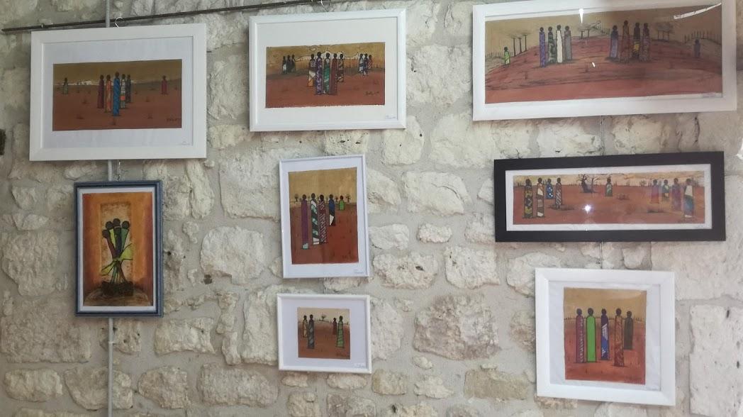 2017 - 24 Eymet - Salles annexes du Château - Avec Claude Millet et Aliou Bolly, artistes peintres