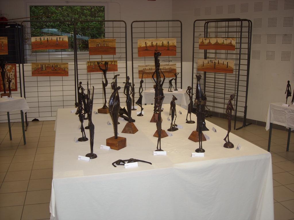 2015 - 32 St Martin - Campagn'Art - Exposition avec Aliou Bolly, artiste peintre