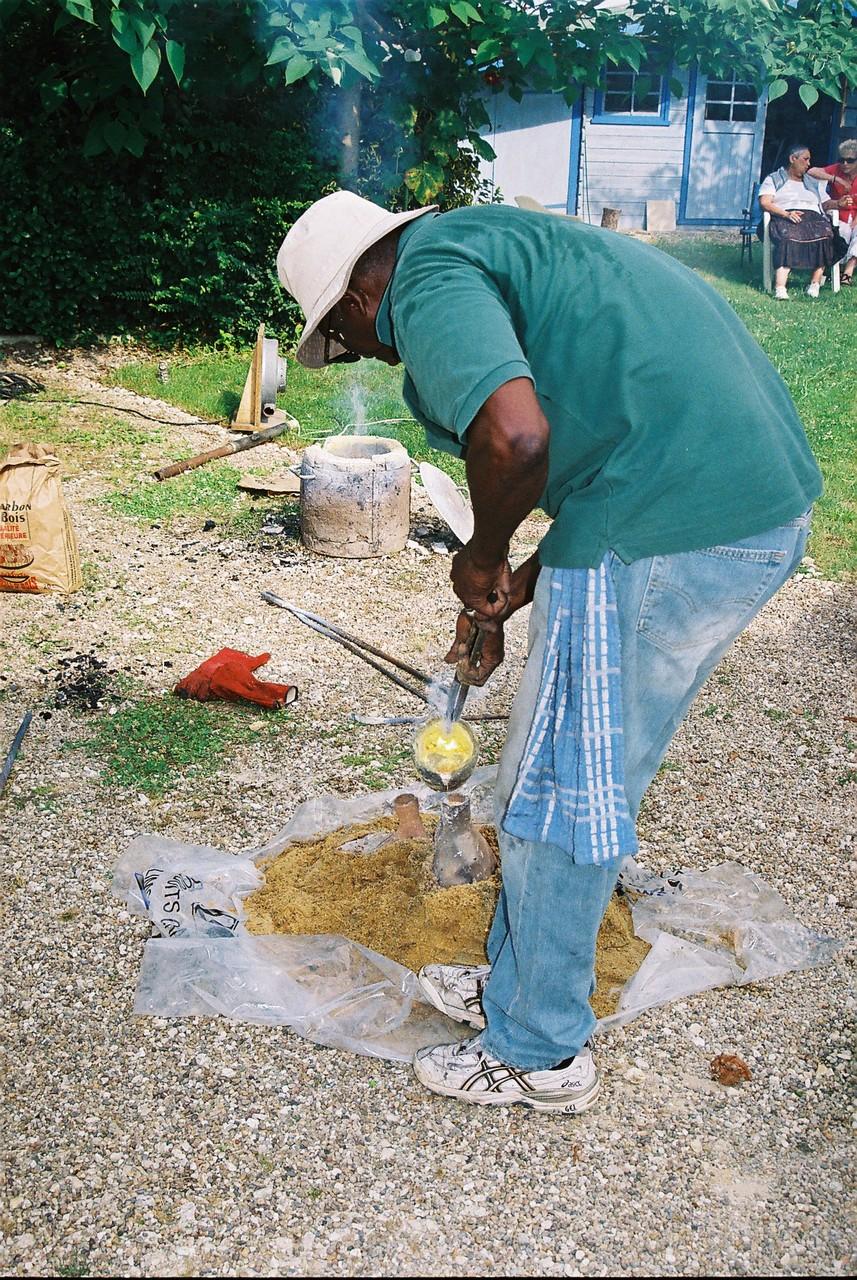 2014 - Lamonzie St Martin - Stage d'initiation à la sculpture chez Karine Dikoumé, artiste peintre