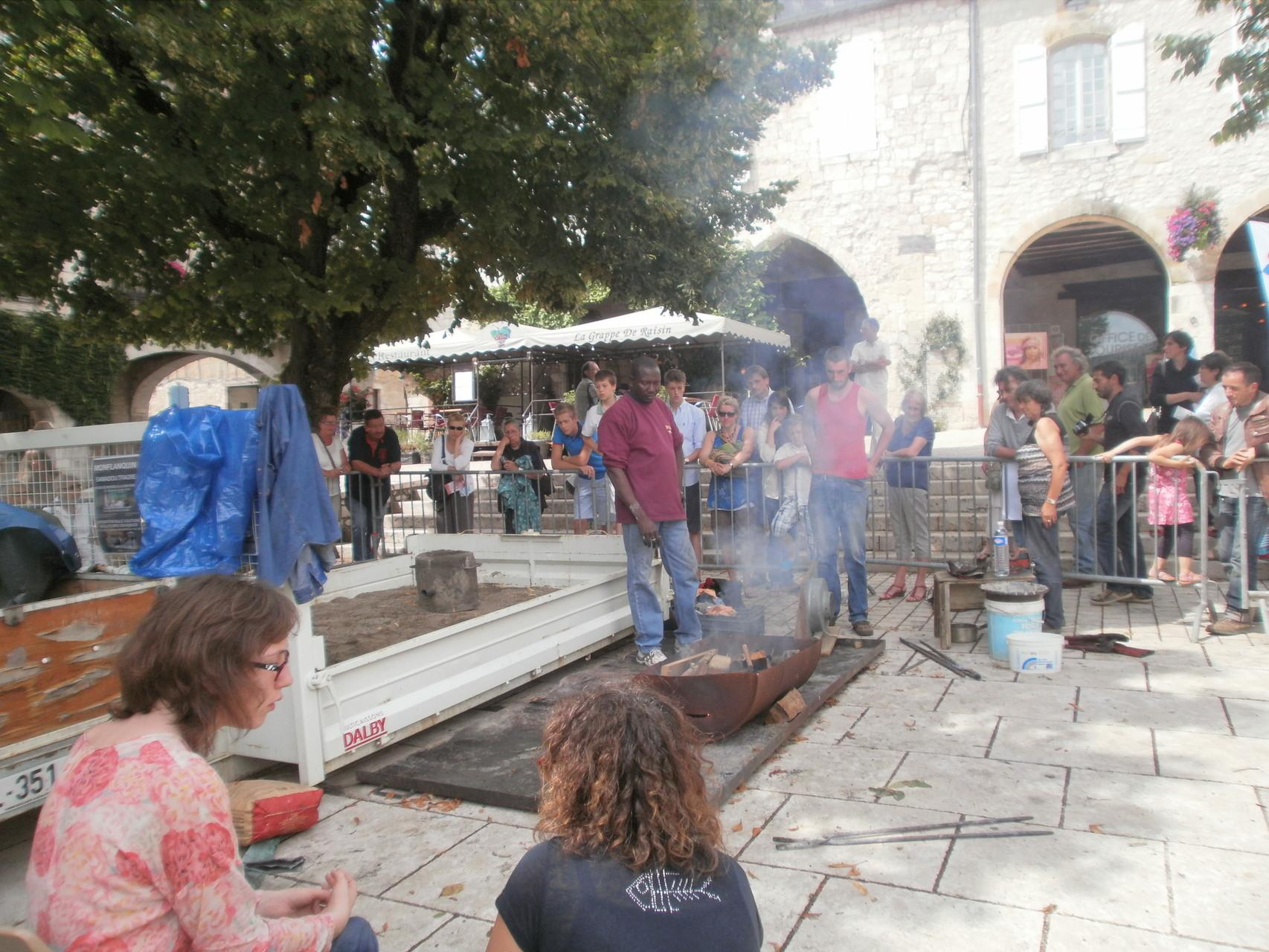 2014 - 47 Monflanquin - GEM - Atelier, technique du bronze à la cire perdue