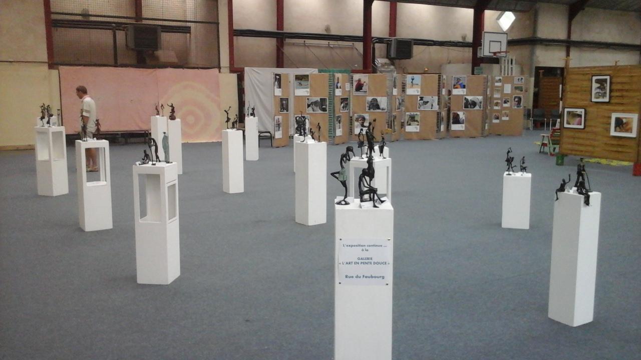 2017 - 46 Cajarc - Festival Africajarc - Exposition au gymnase