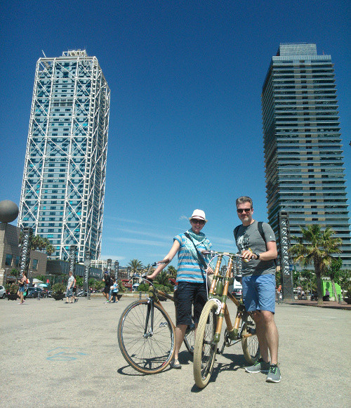 Bamboo Bike Tour at the Olympic Port, Barcelona