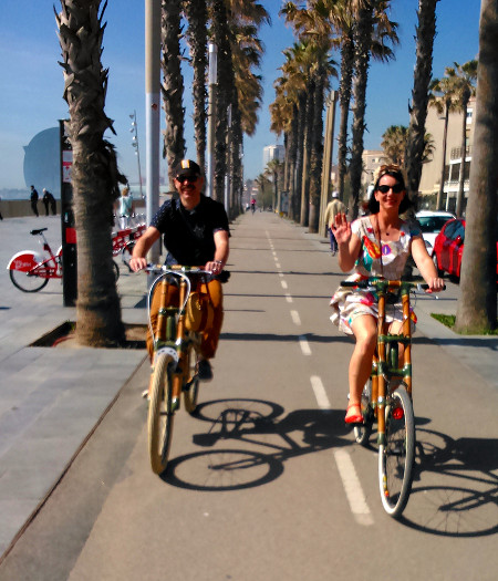 Bamboo Bike Tour at the Barceloneta Beach
