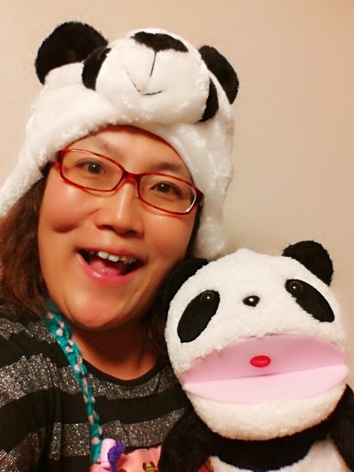 こそだて英語講師の時は、時々、パンダになります(笑)。