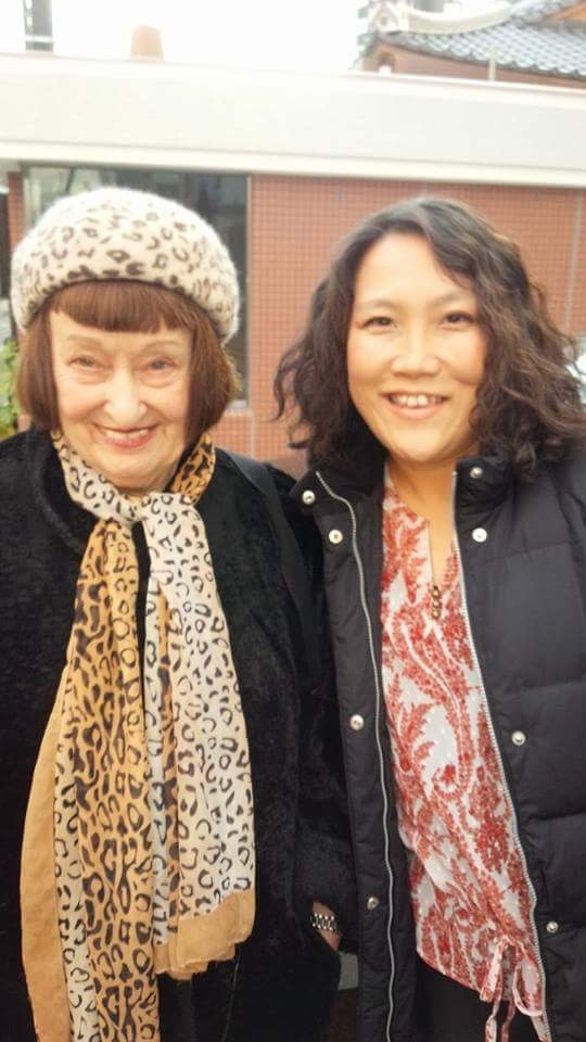 Sheila Jordan先生と東京のワークショップにて。