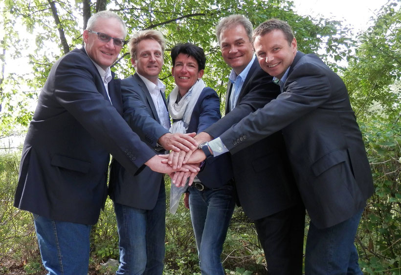 v.l.n.r.: Thomas Reischauer, Andreas Gumpetsberger, Ursula Deinhammer, Harald Schützinger, Hubert Preisinger
