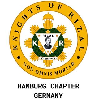 Das Logo des Order of the Knights of Rizal, hier ist das Logo des Hamburg Chapter zu sehen