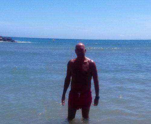 Torrevieja Strand baden schwimmen meeresschwimmen brandungsschwimmen