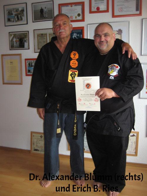Erich B. Ries Dr. Alexander Blümm Danprüfung Kenko Kempo Karate