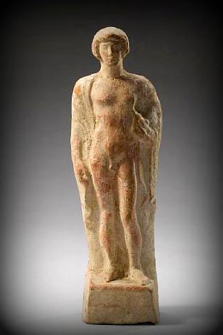Kouros in terracotta,  Grecia, Per. Classico, V sec. a. C.