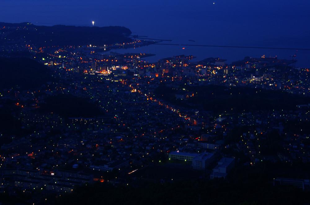 6/22 小樽市 天狗山展望台から望む小樽夜景