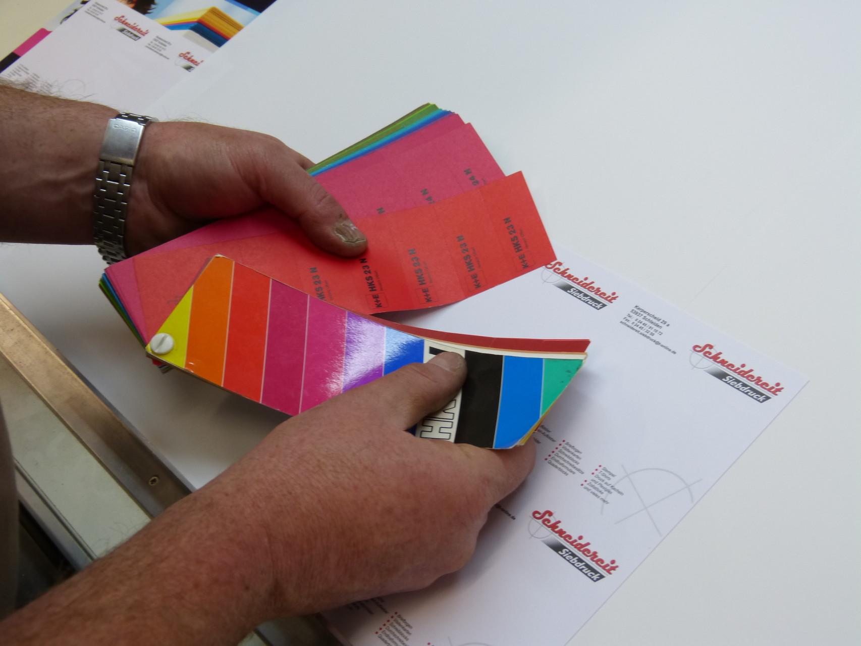 Farbkontrolle