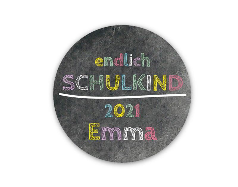 Aufkleber für die Einschulung in Tafeloptik Chalkboard - personalisierbar mit Wunschtext - als Gastgeschenk, für Einladungen, Schulanfang, Einschulung,