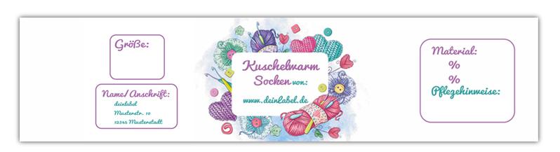 Sockenbanderolen - edle Verpackung für deine Handmade Socken