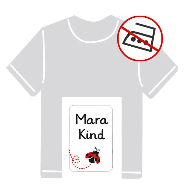 Kleidungsaufkleber für kurzfristige Markierung der Kleidung - ohne Aufbügeln - pvc-frei - Motiv: Marienkäfer