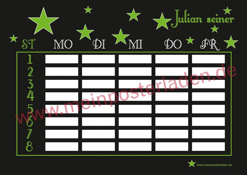 Stundenplan: Sterne - grün