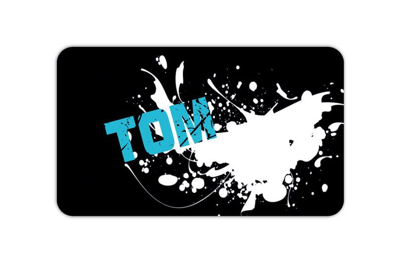 Brotdosenaufkleber 12 x 7 cm  - Motiv: Graffiti - Farbklecks - hochwertige PVC-freie Folie, ungiftige Farben - mit Namen personalisierbar