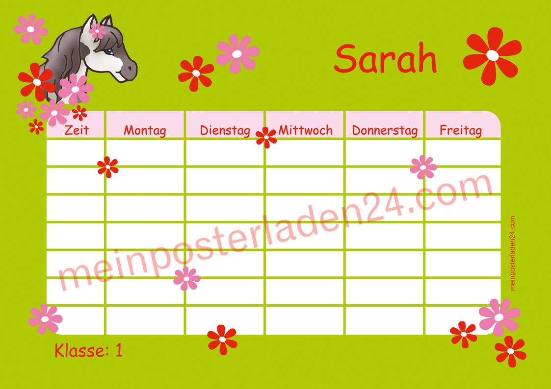 Stundenplan: Pony Blumen