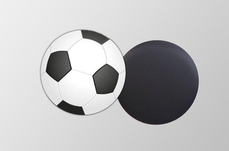 Mini Magnetbilder- rund- Motiv: Fußball,  für Kinderpartys, Motopartys, Fußballvereine, Gastgeschenke