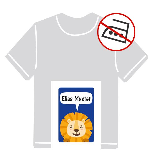 Kleidungsaufkleber für kurzfristige Markierung der Kleidung - ohne Aufbügeln - pvc-frei - Motiv: Kleiner Löwe