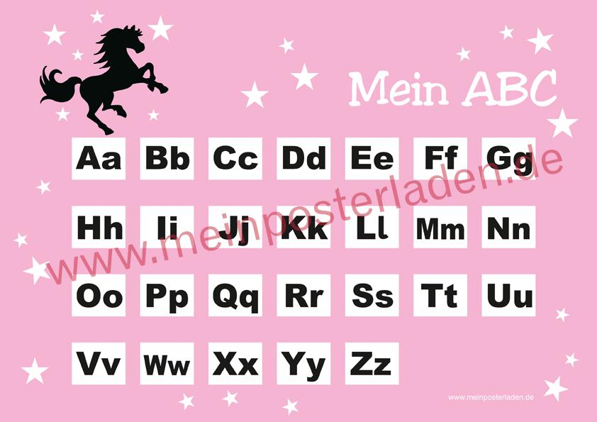 ABC Lernposter: Wildpferd