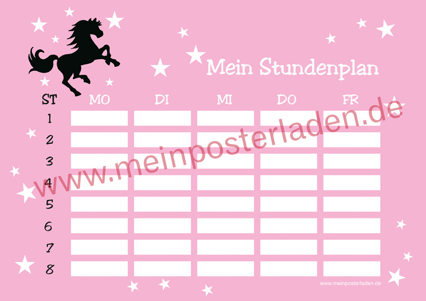 Stundenplan: Wildpferd