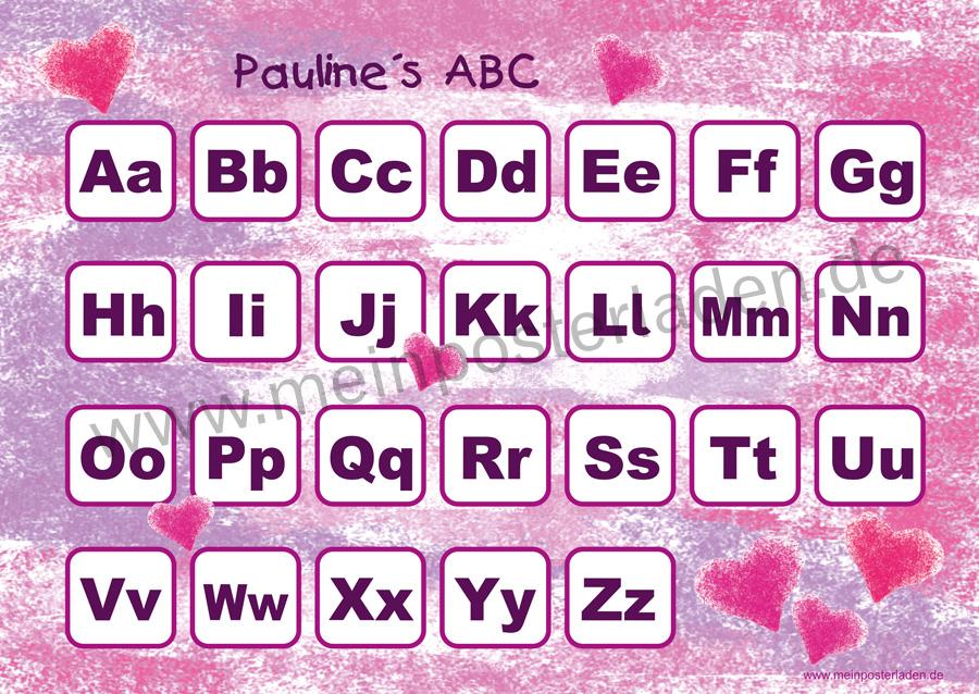 ABC Lernposter: Herzchen