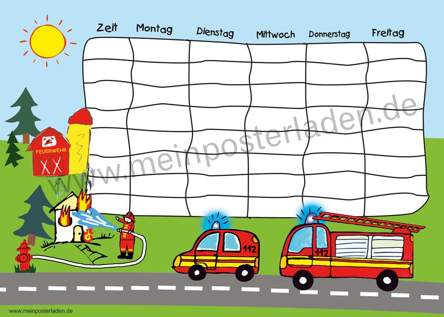 Stundenplan: Feuerwehr