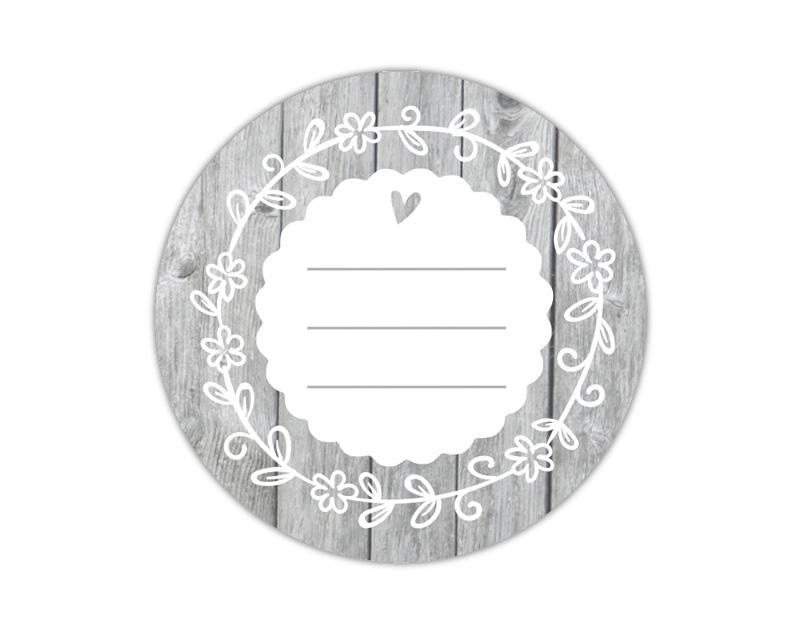 Marmeladenaufkleber oder Geschenkaufkleber zum selbstbeschriften - umweltfreundlich - wasserfest - beschreibbar mit wasserfestem Folienstift od. Kugelschreiber