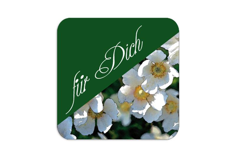 """Geschenkaufkleber - """"für Dich"""" weiße Annemone  - für Dankesbriefe, Briefe, Geschenke, Einladungen und kleinen Aufmerksamkeiten im Alltag"""