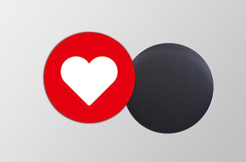 Mini Magnetbilder- rund- Motiv: Herz,  für Verlobungen, Hochzeiten, Einladungen, Gastgeschenke