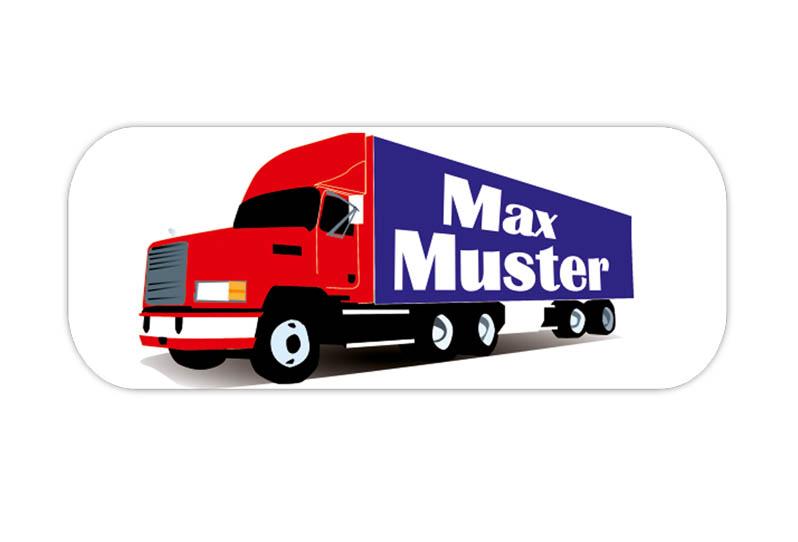 eckige Namensaufkleber, Motiv: LKW, Truck, hochwertige, umweltfreundliche PVC-freie Folie