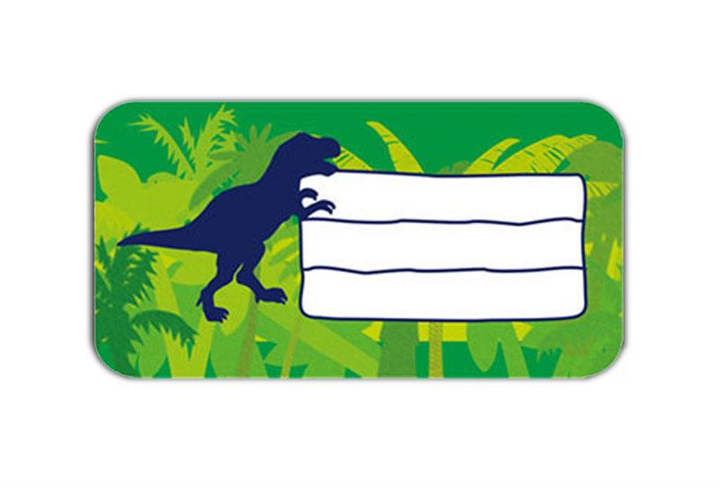 Heftaufkleber zum selber beschriften - Motiv: T-Rex - hochwertige, umweltfreundliche PVC-freie Folie