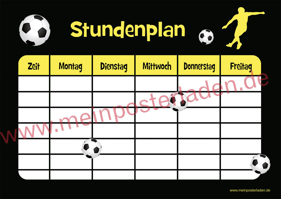 Stundenplan: Fußball
