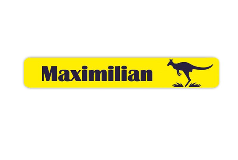 Stifteaufkleber 0,7 x 4,5 cm - hochwertige PVC-freie Folie - mit Namen personalisierbar - Motiv: Känguru