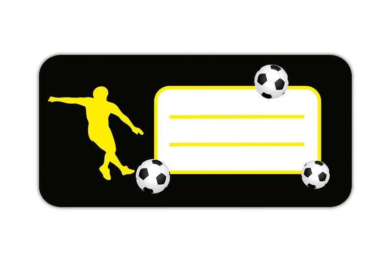 Heftaufkleber: Fußball