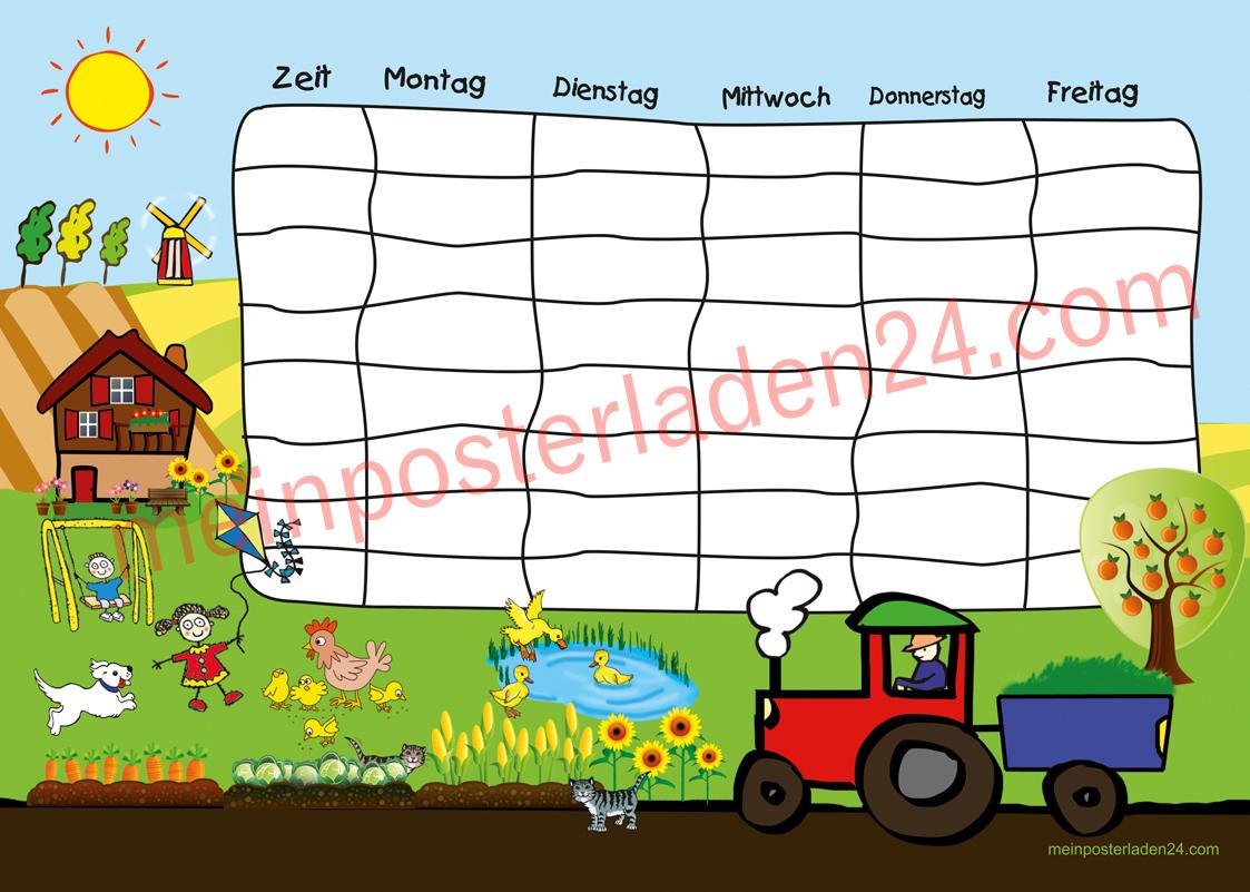 Stundenplan Bauernhof