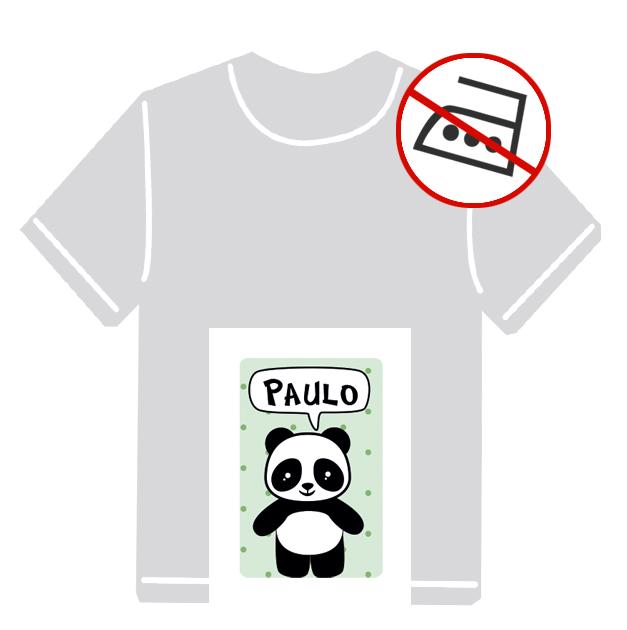 Kleidungsaufkleber für kurzfristige Markierung der Kleidung - ohne Aufbügeln - pvc-frei - Motiv: Pandabär