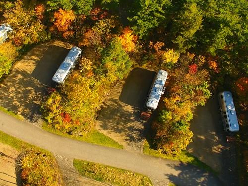 ふくしま県民の森フォレストパークあだたらトレーラーハウス