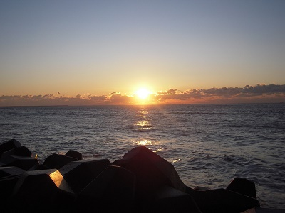 九十九里オートキャンプ場太陽と海
