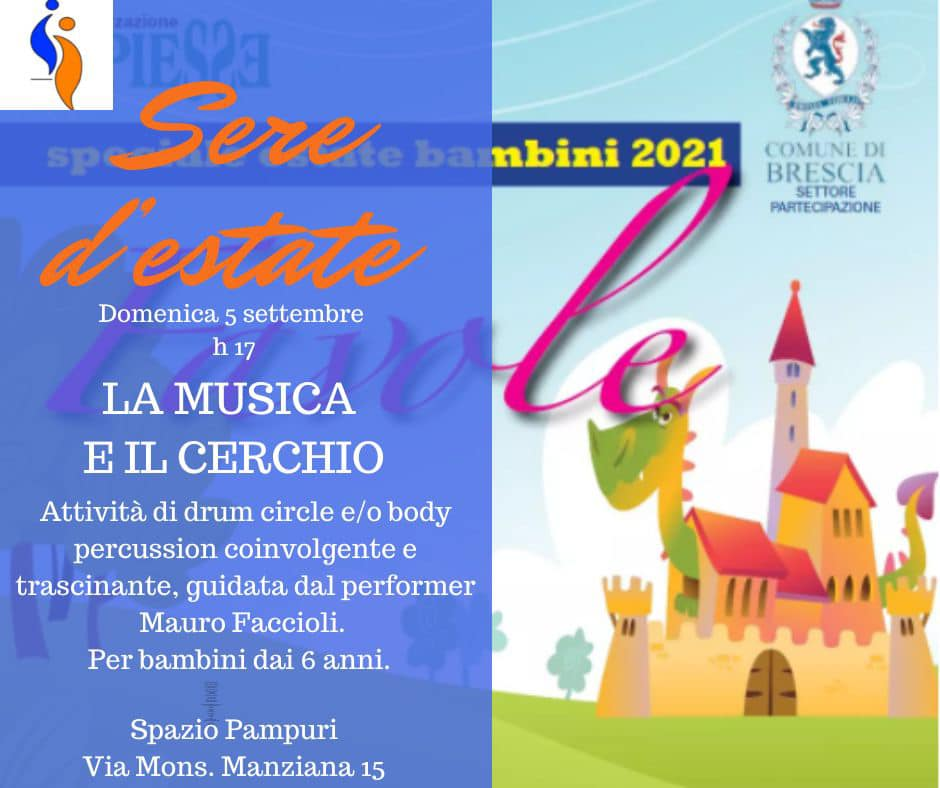 """""""La Musica e il Cerchio"""" domani, domenica 5 sett. 17.00"""