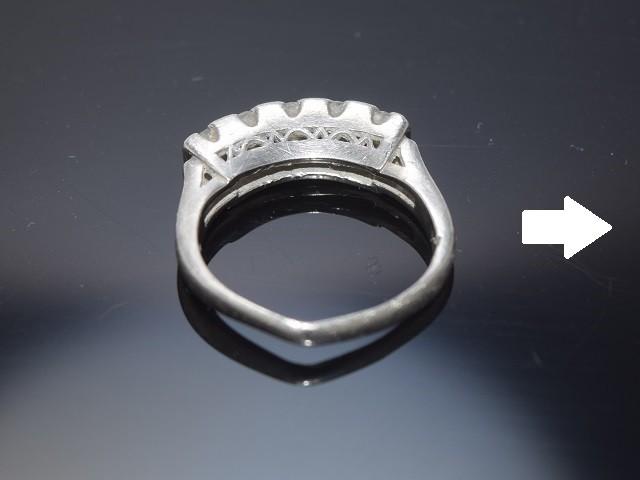 指輪アーム、爪変形直し前