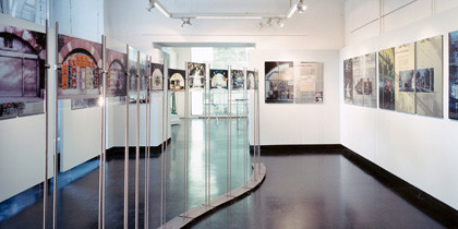 Ausstellungstafeln, Duratrans/Foto, Acryl/Alu