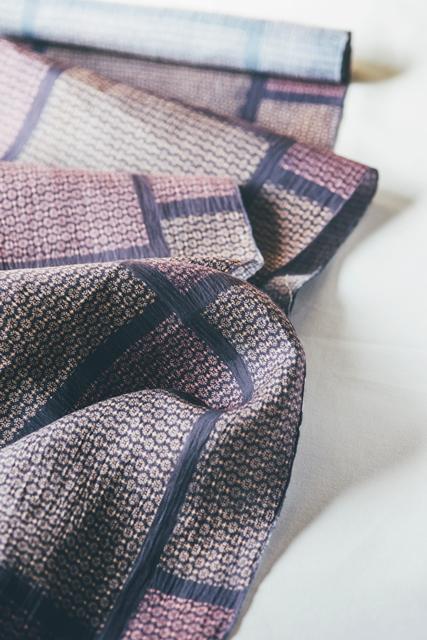 上布に染めた帯地は名古屋帯に仕立ててもそのまま兵児帯としても